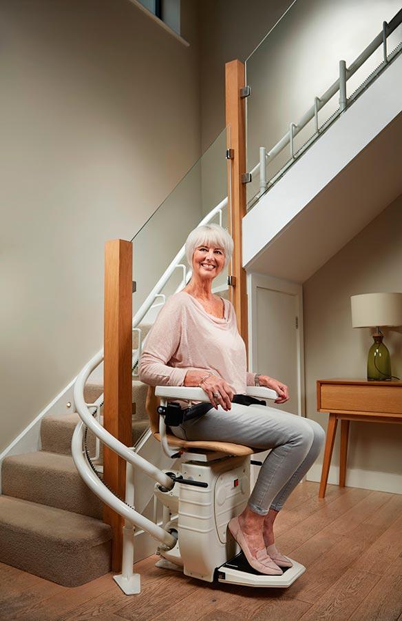 Silla salva escaleras curvo – para escaleras curvas