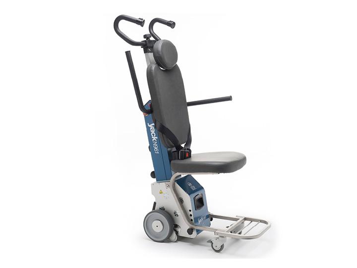 Salvaescaleras movible a rueda, con silla, cinturón de seguridad y brazos de apoyo incluidos Yack N961H